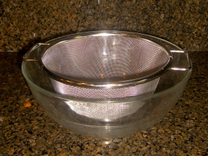Strainer Over Bowl