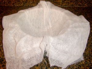 Line Strainer w/ Cheesecloth
