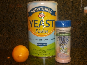 Add the Nutritional Yeast, Lemon, & Salt