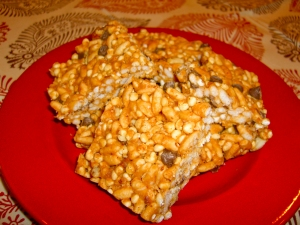 Peanut Butter Crisp Bars
