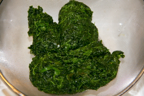 Defrosted Spinach