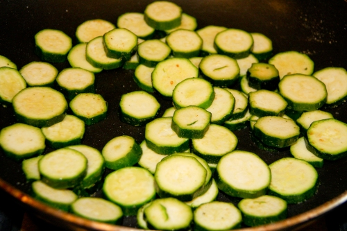 Saute the Zucchini