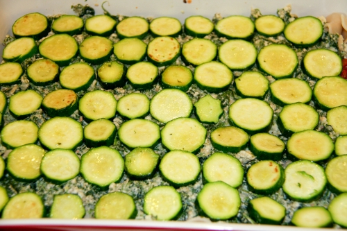 Noodle Layer, Herbed Riccota, Zucchini
