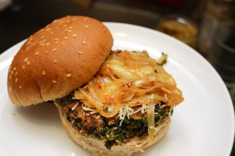 Kale Burger by Brooklyn Eats