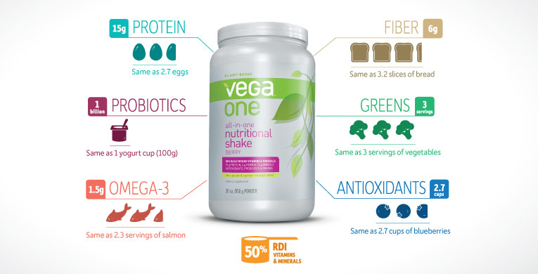Vega One Nutritional Shake Review   GlutenAway Blog