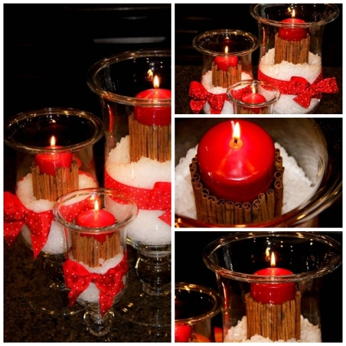 Christmas Candle Collage