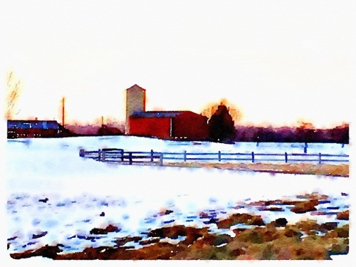 Idaho Barn Watercolor