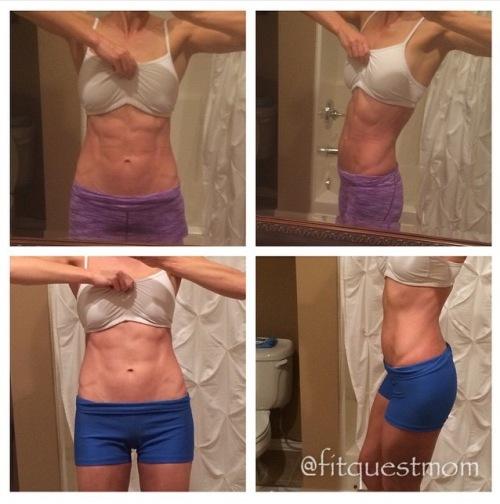 Gretchen Tseng fitquestmom Reverse Diet wk 1 vs. 13