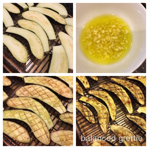 Roasted Japanese Eggplant Balanced Grettie Collage